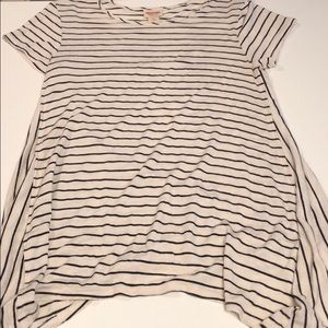 Mossimo black and white striped long shirt